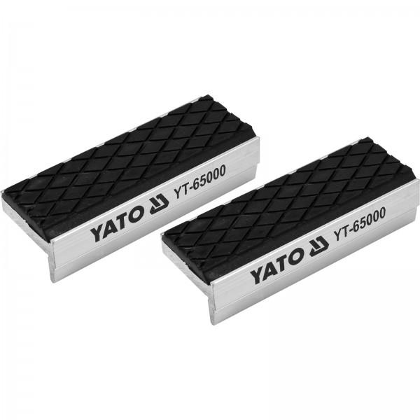 YATO Profi Schraubstock-Schutzbacken 75mm Aluminium mit Soft-Beschichtung YT-65000