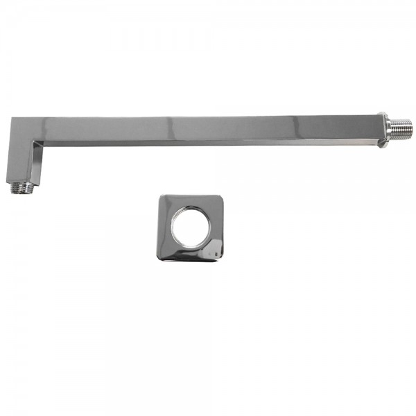 Grafner® Edelstahl Duscharm für Duschkopf 20x20 cm bis 50x50 cm