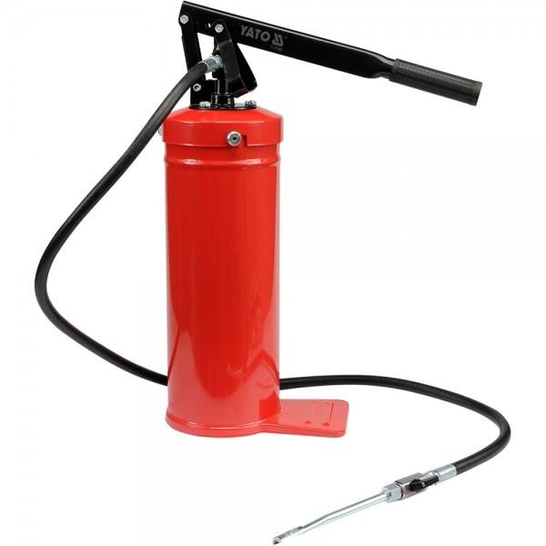 YATO Profi Handhebel-Fettpresse mit Behälter 8 kg YT-07063 Fettspritze