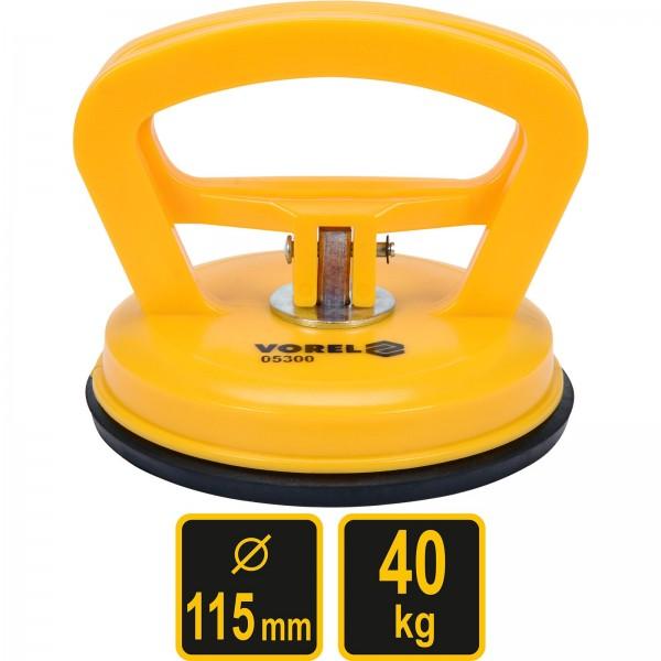 Vorel Glas-Gummisauger Ø115mm Tragkraft 40kg Saugnapfhalter