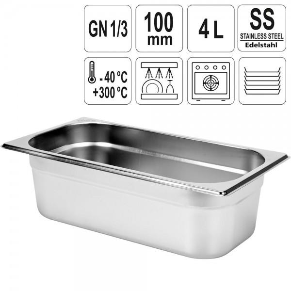 YATO Gastronorm Behälter Edelstahl 1/3 100mm