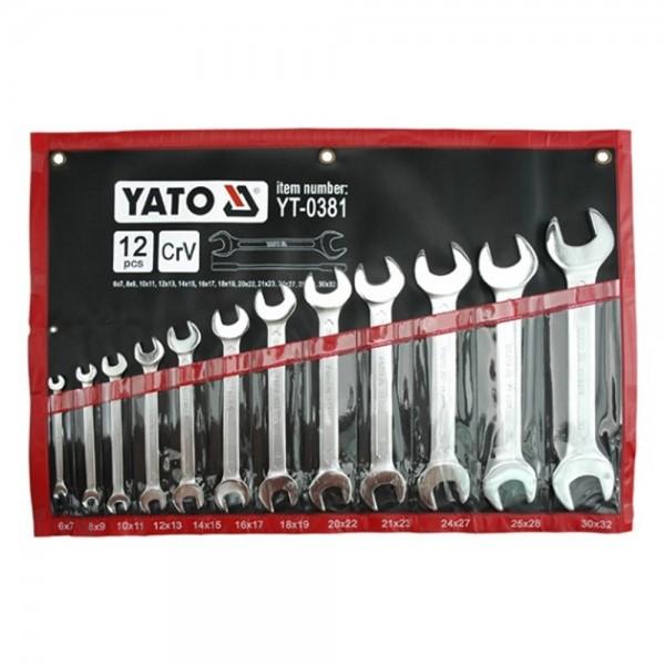 YATO Profi Doppelmaulschlüsselsatz 6-32mm 12tlg. YT-0381