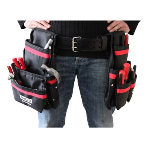 YATO Profi XXL Werkzeuggürtel mit 21 Taschen YT-7400