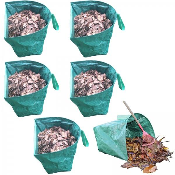 6er Set Grafner® halbrunder Gartenabfallsack 170 Liter Gartentasche Laubsack
