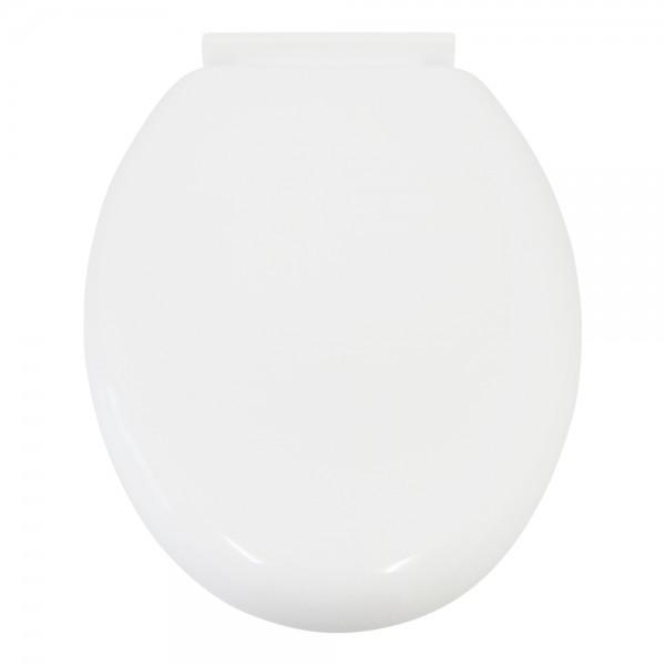 WC Sitz aus MDF weiss Toilettendeckel