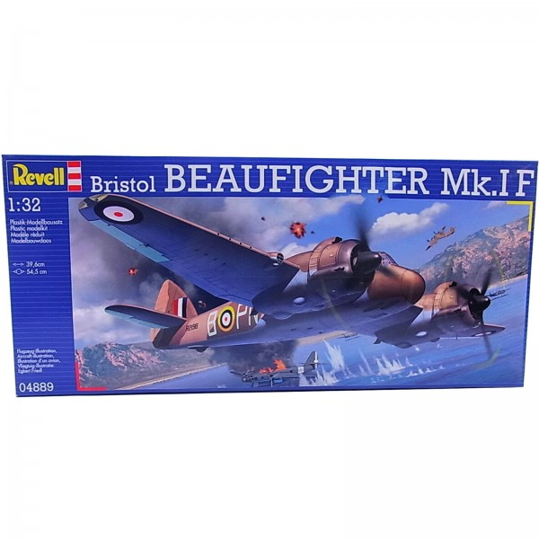 Revell Modellbausatz Bristol Beaufighter Mk.IF Modellflugzeug Maßstab 1:32 04889