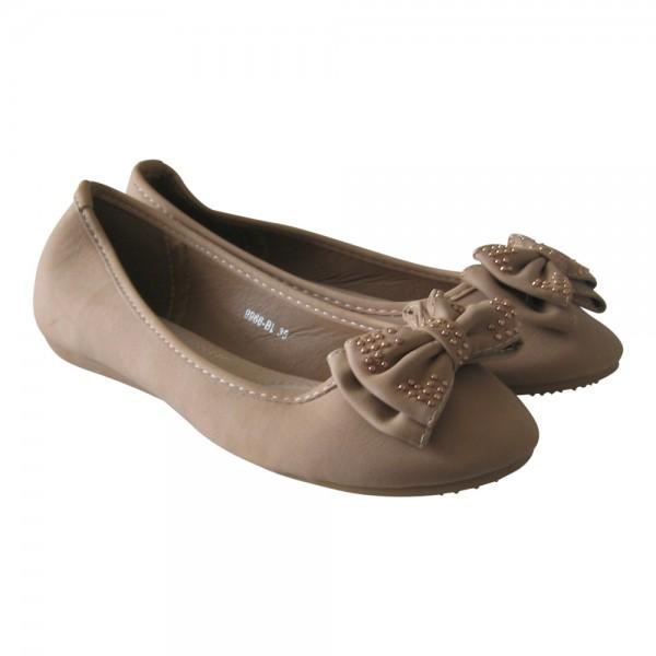 Damen Ballerina Schleife und Nieten Größe: 41 / Farbe: Khaki