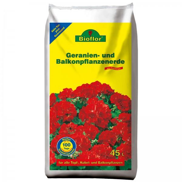 Bioflor Geranien-/Balkonpflanzenerde 45 Liter Beutel