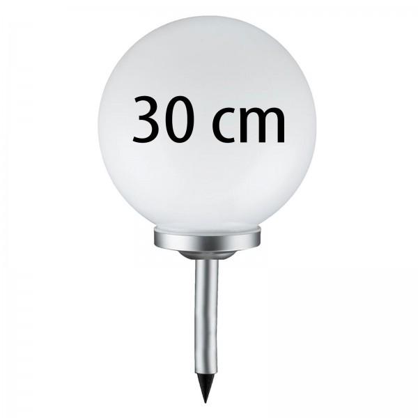 Grafner® LED Solar Kugel Ø30cm Solarleuchte Kugelleuchte mit Erdspieß