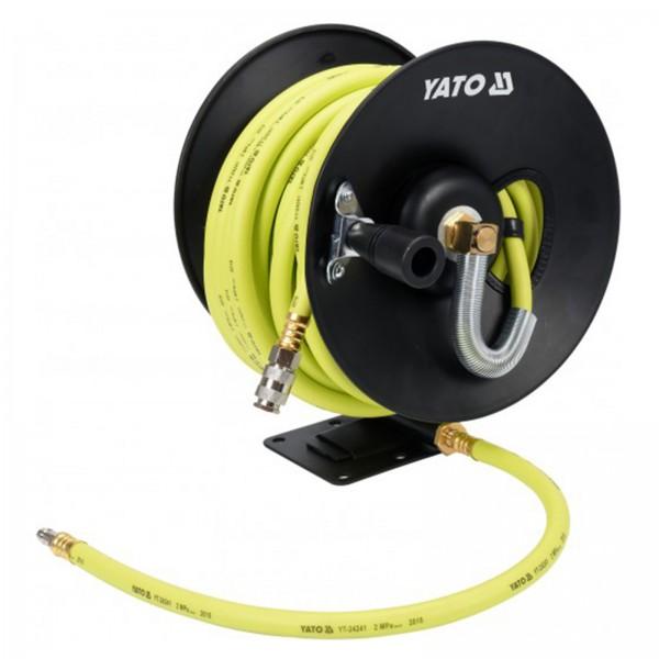 YATO Profi Druckluft-Schlauch 15m Ø9,5mm auf Trommel YT-24241