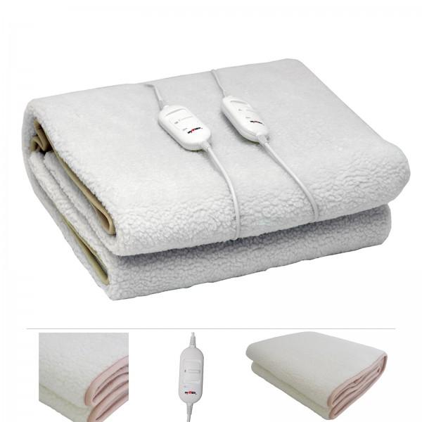 Grafner® elektrisches Wärmeunterbett / Heizdecke aus synthetischer Wolle 160x140cm XL Wärmedecke