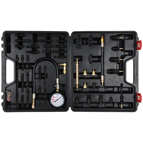 YATO Profi Kompressionstester Satz | Benzin- und Diesel | 50 tlg. | im Koffer | YT-73012