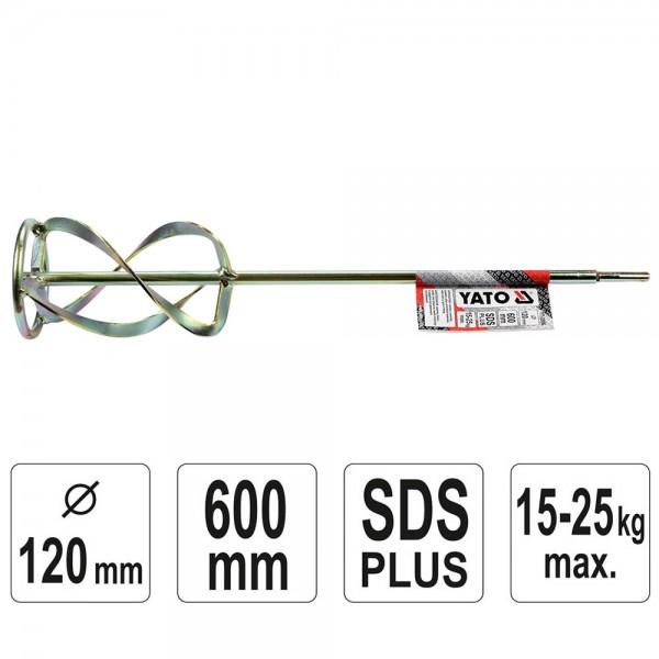 YATO Profi Spiral Rührkorb SDS Plus Ø120 600mm YT-5506