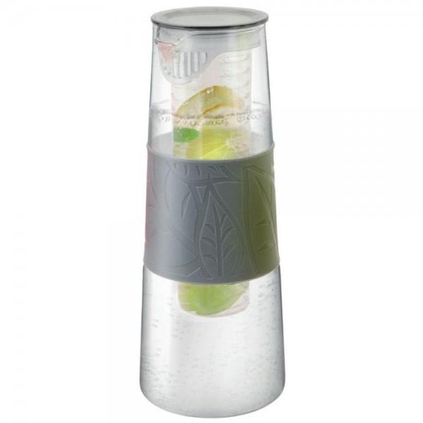 Glaskaraffe mit Fruchteinsatz grau