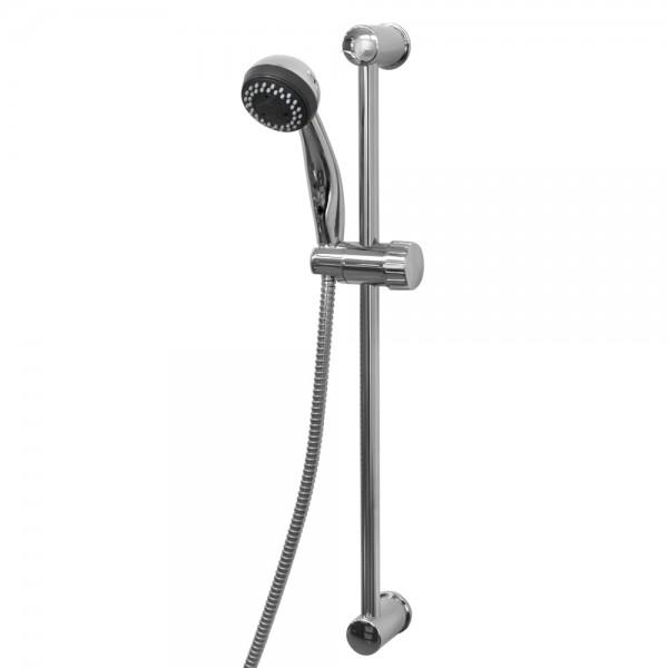 Grafner® Duschgarnitur mit Handbrause und 3 Wasserstrahlarten Duschsäule stufenlos verschiebbar TR-5002-1/S