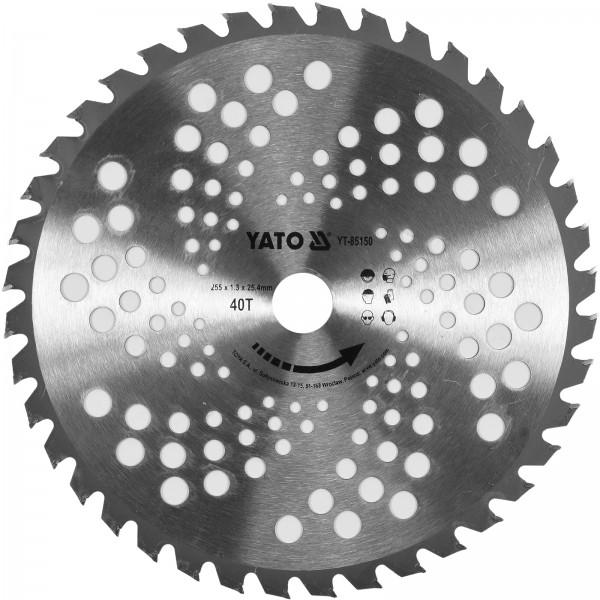 YATO Profi Sägeblatt für Motorsense 255 mm YT-85150