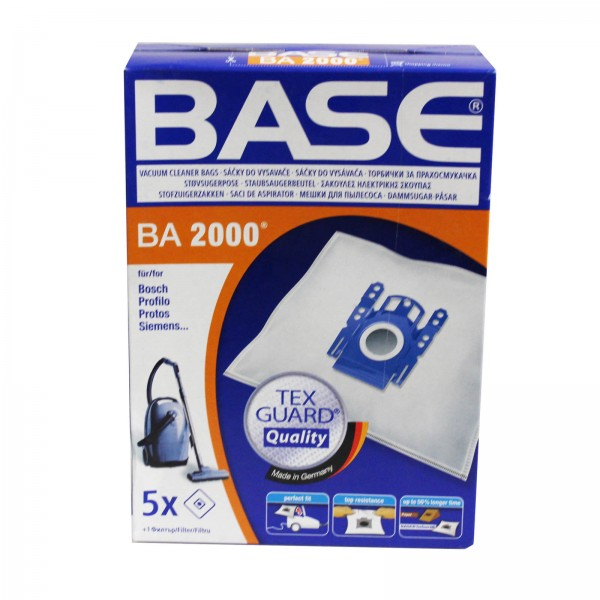 Base Staubsaugerbeutel BA 2000 passend für Bosch, Siemens, Protos, DeSina, Profilo, PROTOS, Severin