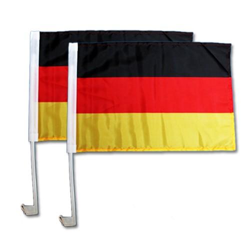 2er Autofahnenset Auto Fahnen Deutschland Fahne 30 x 45 cm
