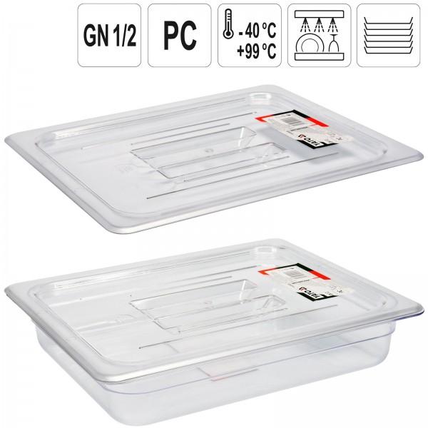 YATO Profi GN Gastronorm Deckel für Behälter Kunststoff 1/2