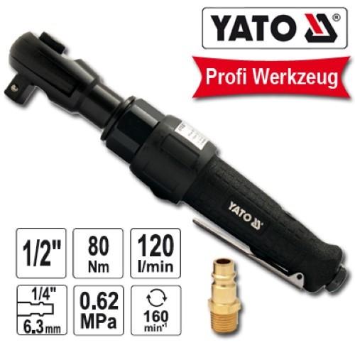 """YATO Profi 1/2"""" Druckluft-Ratschenschrauber 80Nm YT-0981 Druckluftratsche"""