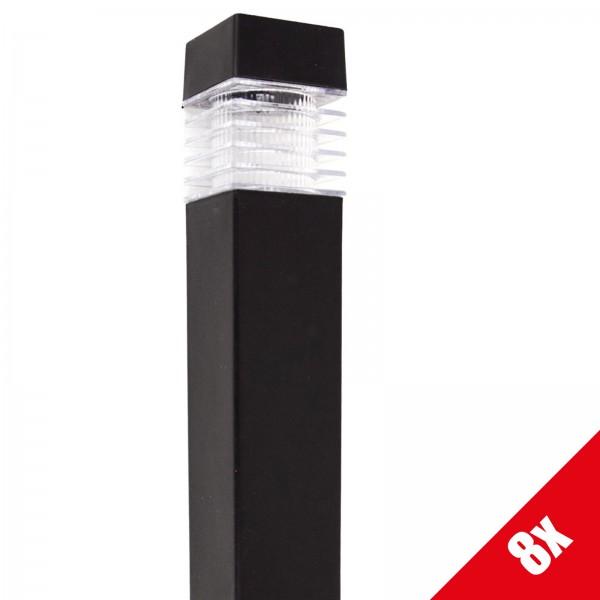 8er Set Grafner® Solar LED Gartenleuchte Solarlampe Solar Wegleuchte