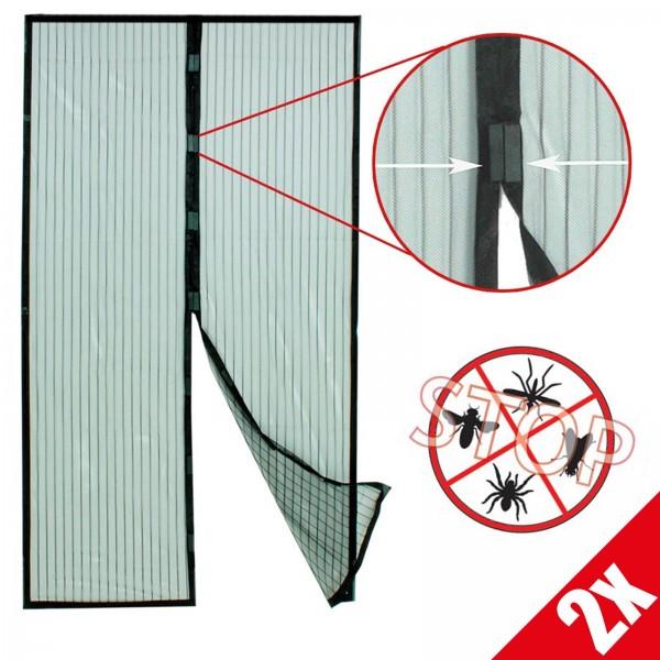 2er Vorteilspack Grafner® Insektenschutzgitter magnetischer Türvorhang Fliegen und Mückenschutz