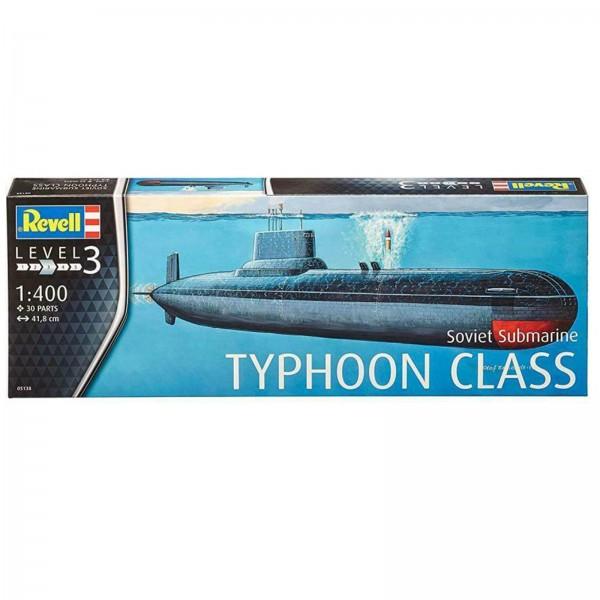 Revell Modellbausatz Soviet Submarine Typhoon Class U-Boot Maßstab 1:400 05138