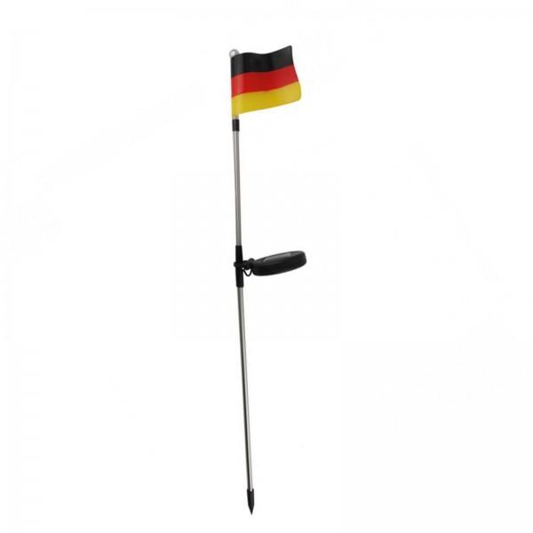 Deutschlandfahne mit Solarbeleuchtung Flagge