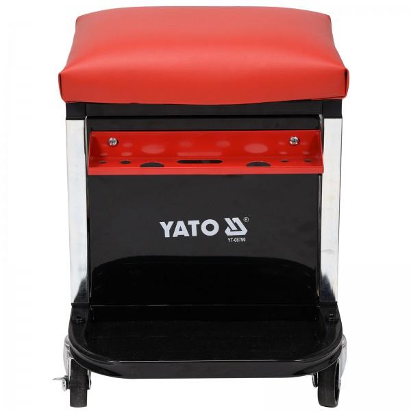 YATO Profi Werkstatt-Hocker   2 Schubladen   stabile Ausführung   max. 150kg   YT-08790