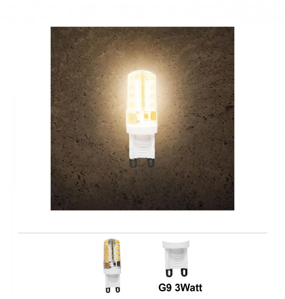 Grafner® LED Leuchtmittel 3W G9 3000K Warmweiss