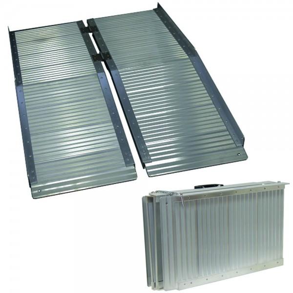 Grafner® Alu Auffahrrampe für Rollstühle klappbar 122x73 cm 272 kg