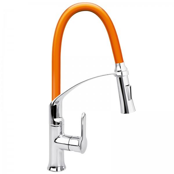 FALA Profi Einhebel-Küchenarmatur flexibel orange 75678