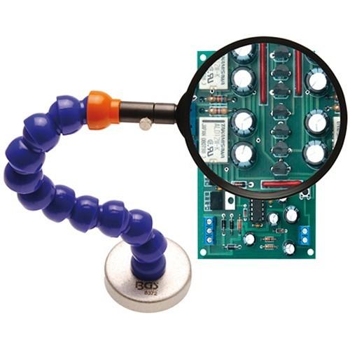 BGS 8372 Lupe mit flexiblem Haltearm und Magnetfuß
