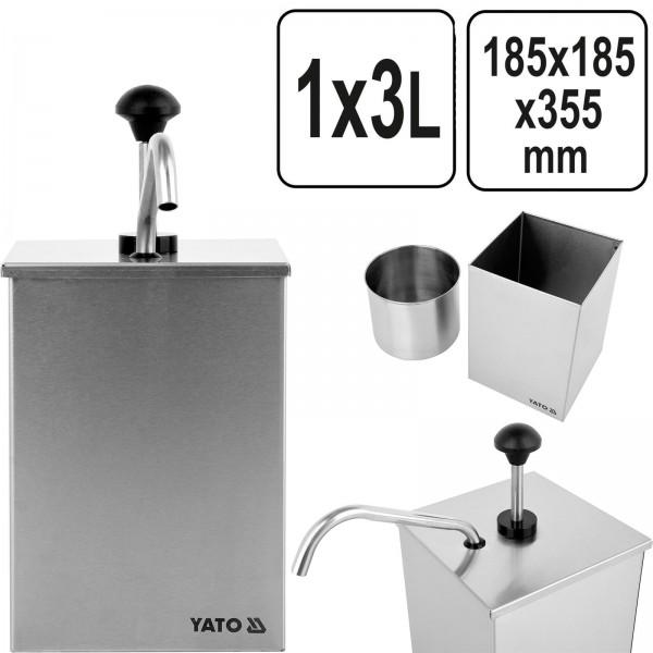 YATO Profi Edelstahl Saucen Spender YG-00557 1x3 Ltr. Dispenser