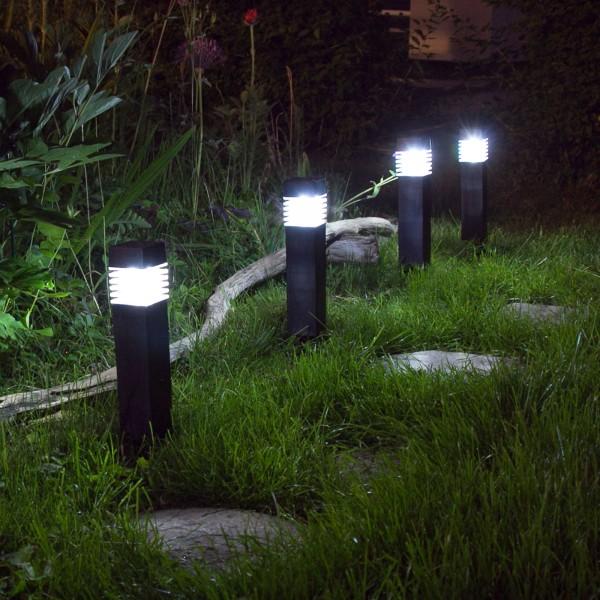 4x Grafner® Solar LED Gartenleuchte Solarlampe Solar Wegleuchte