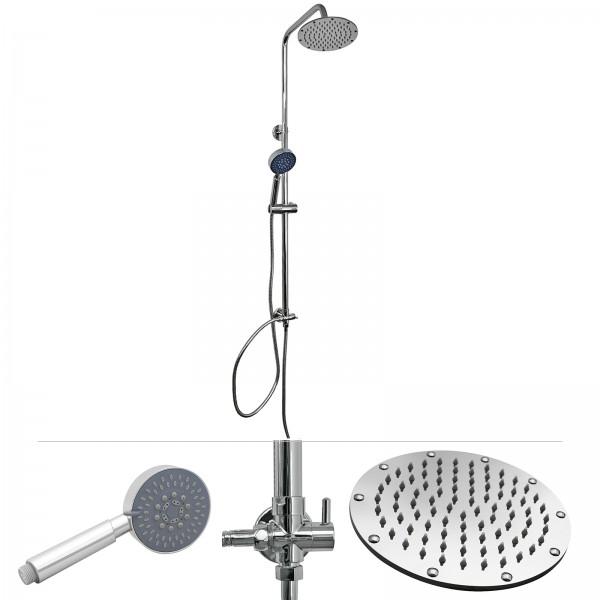 Grafner® Duschgarnitur mit Duschkopf und Handbrause Duschsäule TR-809/C