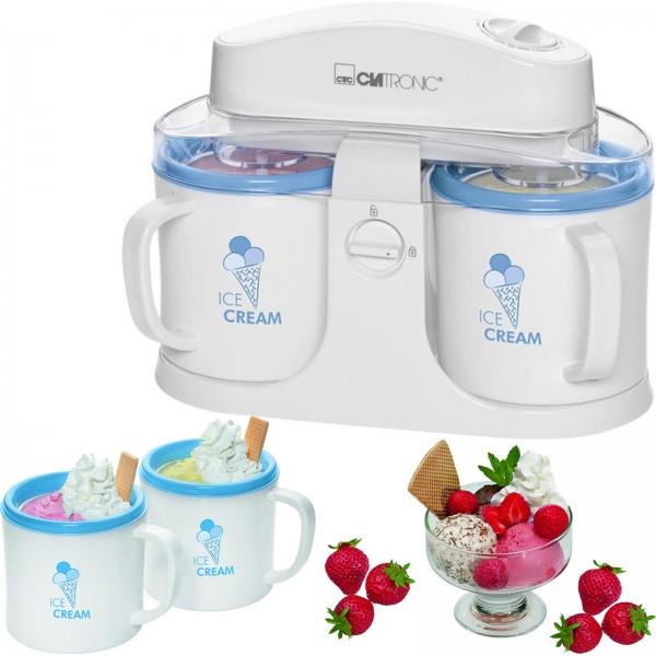 Clatronic Eismaschine mit 2x 500ml Behälter ICM 3650 Eiscreme-Maker