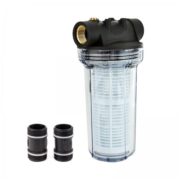 Grafner® universal Filter lang mit Einsatz geeignet für Hauswasserwerke FI10634 und Gartenpumpen