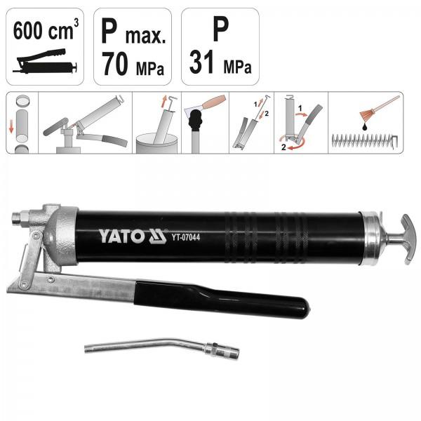 YATO Handhebel-Fettpresse 600ml YT-07044
