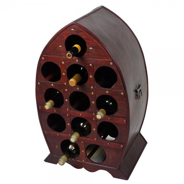 Weinregal im Kolonialstil für 12 Flaschen