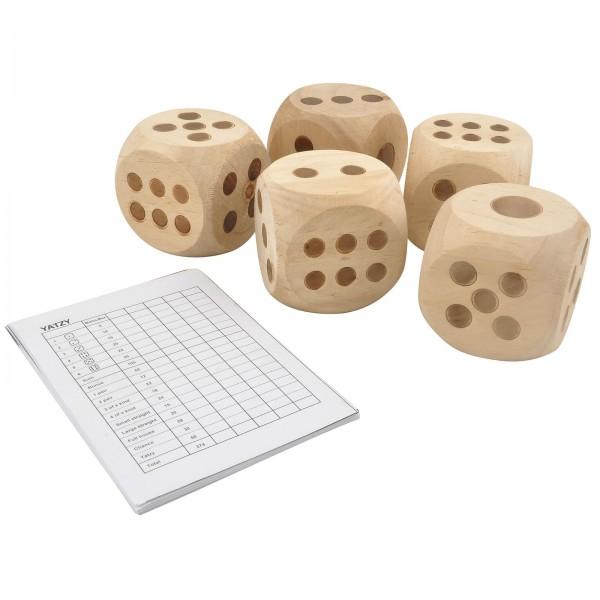 Garten XL Würfel Spiel Yatzy mit Block