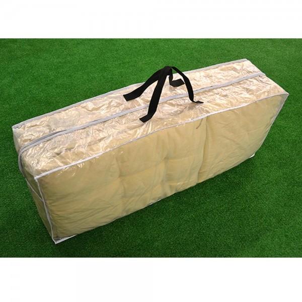 Schutzhülle für Auflagen, Tragetasche für Sitzkissen, 125x32x50 cm, transparent