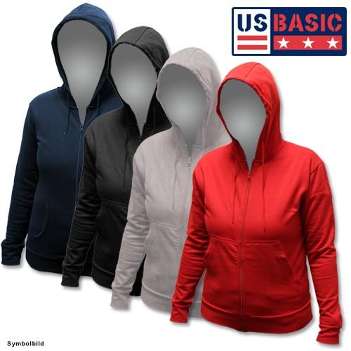 US Basic Damen Hoodie Pullover Farbe: rot oder grau Größe: S