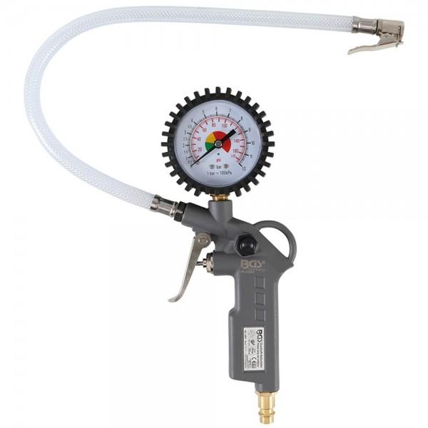 BGS 3201 Druckluft Reifenfüllpistole 0 - 8 bar Reifenfüller Ausblaspistole