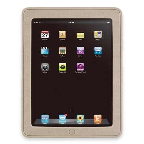 Apple iPad Schutzhülle Silikon Leder RaidSonic Bone für Apple iPad 1