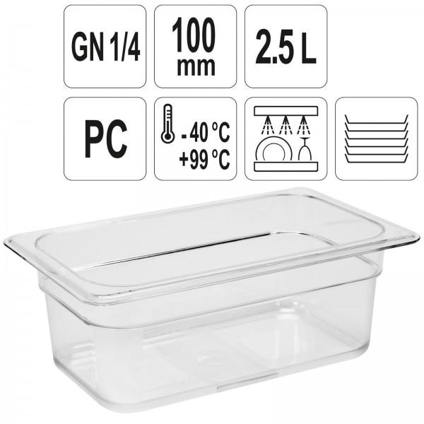 YATO Profi GN Gastronorm Behälter Kunststoff 1/4 100mm