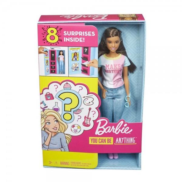 Mattel - Barbie Überraschungs-Karrieren Puppe - Zwei Berufe - Brünett