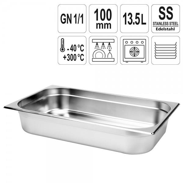 YATO Gastronorm Behälter Edelstahl 1/1 100mm