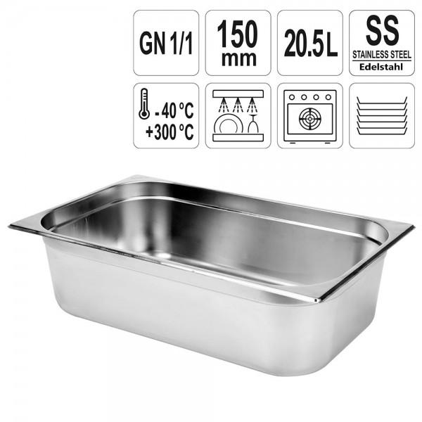 YATO Gastronorm Behälter Edelstahl 1/1 150mm