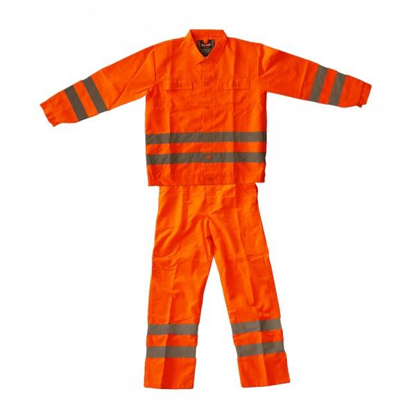 Warnschutz-Anzug orange Kat.I Größe: XL
